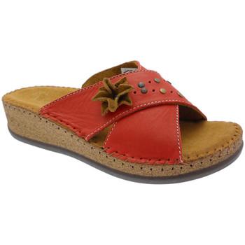 Schoenen Dames Leren slippers De Fonseca DEFONEULALIAros rosso