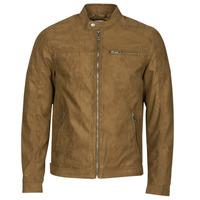 Textiel Heren Leren jas / kunstleren jas Jack & Jones JJEROCKY Cognac