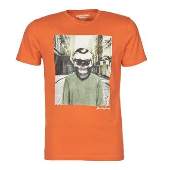 Textiel Heren T-shirts korte mouwen Jack & Jones JORSKULLING Oranje