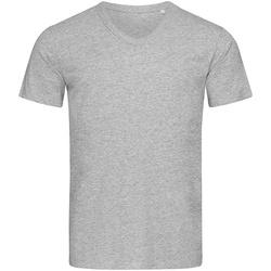 Textiel Heren T-shirts korte mouwen Stedman Stars  Lichtgrijs