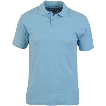 Textiel Heren Polo's korte mouwen Absolute Apparel  Lichtblauw