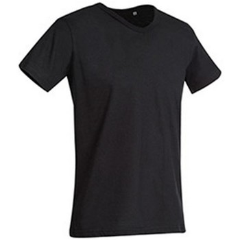 Textiel Heren T-shirts korte mouwen Stedman Stars  Zwart