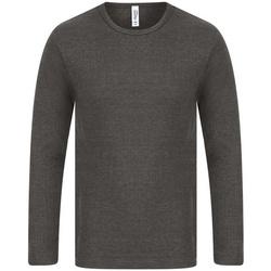Textiel Heren T-shirts met lange mouwen Absolute Apparel  Houtskool