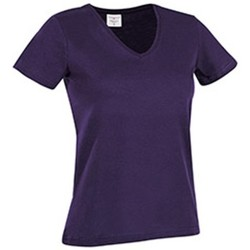 Textiel Dames T-shirts korte mouwen Stedman  Paars