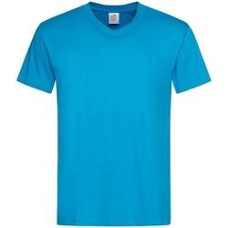 Textiel Heren T-shirts korte mouwen Stedman  Lichtblauw