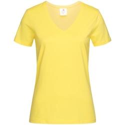Textiel Dames T-shirts korte mouwen Stedman  Geel
