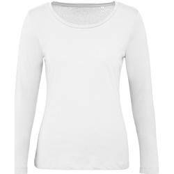 Textiel Dames T-shirts met lange mouwen B And C TW071 Wit