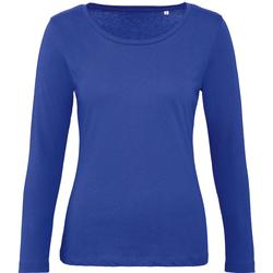 Textiel Dames T-shirts met lange mouwen B And C TW071 Kobaltblauw