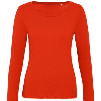 Textiel Dames T-shirts met lange mouwen B And C TW071 Vuurrood