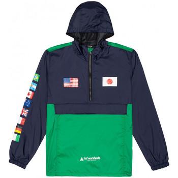 Textiel Heren Windjack Huf Jacket flags anorak Blauw
