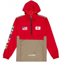 Textiel Heren Windjack Huf Jacket flags anorak Rood