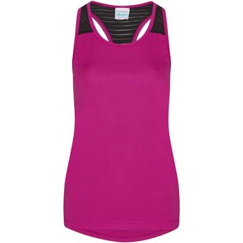 Textiel Dames Mouwloze tops Awdis JC027 Heet Roze