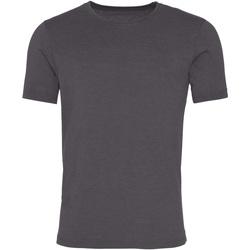 Textiel Heren T-shirts korte mouwen Awdis JT099 Gewassen Houtskool