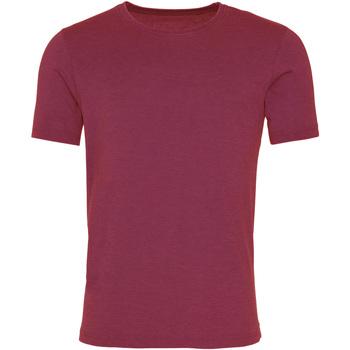 Textiel Heren T-shirts korte mouwen Awdis JT099 Gewassen Bourgogne