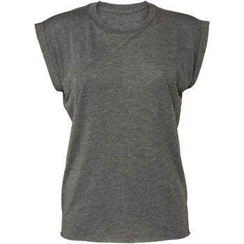Textiel Dames T-shirts korte mouwen Bella + Canvas BE8804 Donkergrijze heide