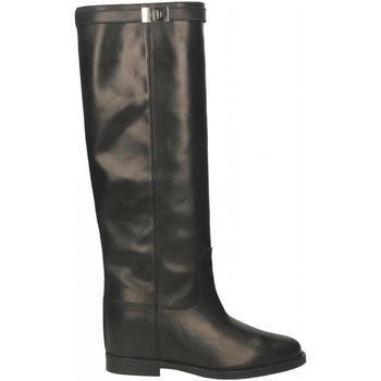 Schoenen Dames Hoge laarzen Via Roma 15 STIVALE CON LUCCHETTO nero