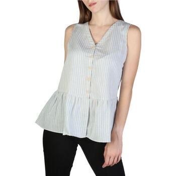Textiel Dames Tops / Blousjes EAX - 3zyh47yncmz Blauw