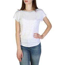 Textiel Dames T-shirts korte mouwen EAX - 3zymaryjk6z Wit