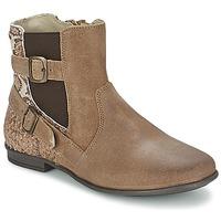 Schoenen Meisjes Laarzen Aster DESIA Taupe / Print