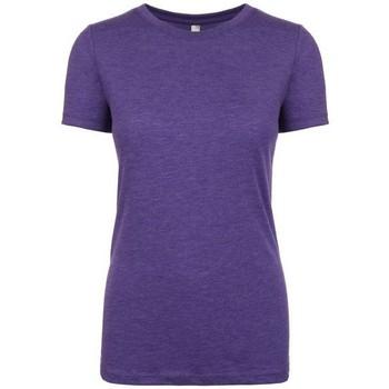 Textiel Dames T-shirts korte mouwen Next Level NX6710 Paarse Spoed