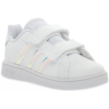 Schoenen Meisjes Lage sneakers adidas Originals GRAND COURT I Bianco