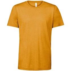Textiel T-shirts korte mouwen Bella + Canvas CV3413 Mosterd Triblend