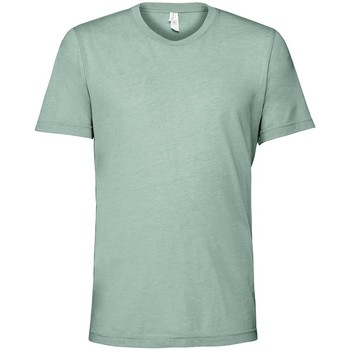 Textiel T-shirts korte mouwen Bella + Canvas CV3413 Stoffige Blauwe Triblend