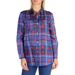 Textiel Dames Overhemden Tommy Hilfiger - ww0ww20742 Blauw