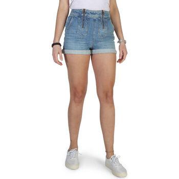 Textiel Dames Korte broeken / Bermuda's Tommy Hilfiger - ww0ww18344 Blauw