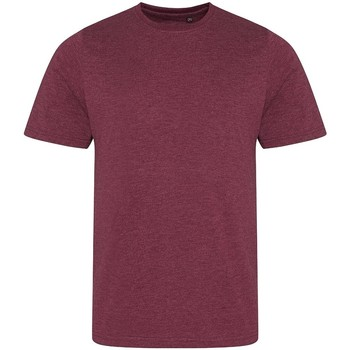 Textiel Heren T-shirts korte mouwen Awdis JT001 Heide Bourgogne