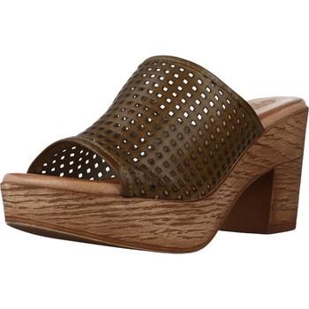 Schoenen Dames Leren slippers Cokketta 1212Y Groen