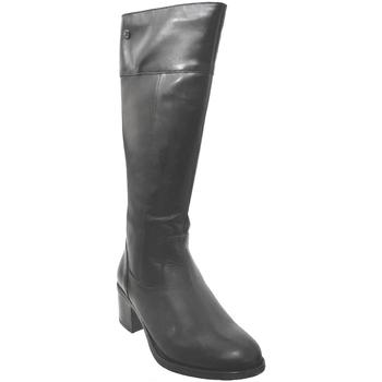 Schoenen Dames Hoge laarzen Caprice 9-25551-25 Zwart leer