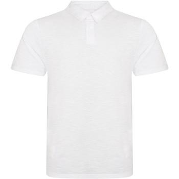 Textiel Heren Polo's korte mouwen Awdis JP020 Slub Wit