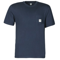 Textiel Heren T-shirts korte mouwen Element BASIC POCKT LABEL SS Marine