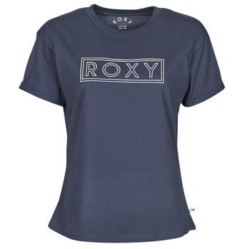 Textiel Dames T-shirts korte mouwen Roxy EPIC AFTERNOON WORD Marine