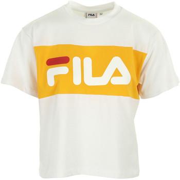 Textiel Dames T-shirts korte mouwen Fila Allison Tee Wn's Wit