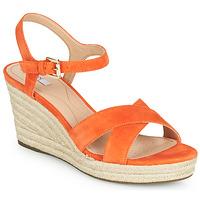 Schoenen Dames Sandalen / Open schoenen Geox D SOLEIL Oranje