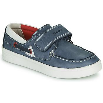 Schoenen Kinderen Mocassins Geox DJROCK GARCON Blauw
