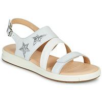 Schoenen Meisjes Sandalen / Open schoenen Geox J SANDAL REBECCA GIR Wit / Zilver