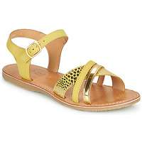 Schoenen Meisjes Sandalen / Open schoenen Geox J SANDAL EOLIE GIRL Geel / Goud