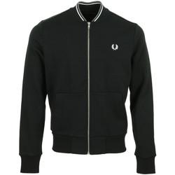 Textiel Heren Trainings jassen Fred Perry Zip Through Sweatshirt Zwart