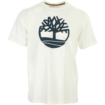 Textiel Heren T-shirts korte mouwen Timberland Kennebec River Tree Logo Tee Wit