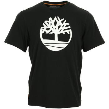 Textiel Heren T-shirts korte mouwen Timberland Kennebec River Brand Tree Zwart