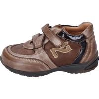 Schoenen Jongens Sneakers NeroGiardini sneakers pelle camoscio Marrone