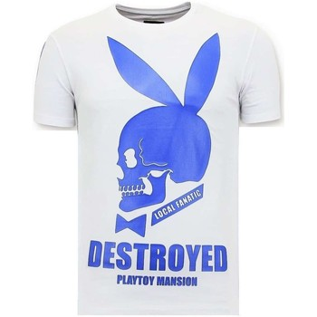 Textiel Heren T-shirts korte mouwen Local Fanatic Destroyed Playtoy Wit