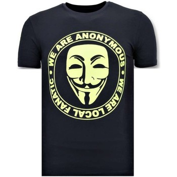 Textiel Heren T-shirts korte mouwen Local Fanatic We Are Anonymous Blauw