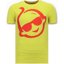Textiel Heren T-shirts korte mouwen Local Fanatic Print Zsal Sunglass Geel