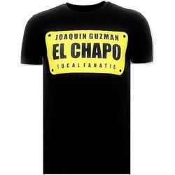 Textiel Heren T-shirts korte mouwen Local Fanatic Luxe Joaquin Guzman El Chapo Zwart