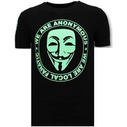 Textiel Heren T-shirts korte mouwen Local Fanatic We Are Anonymous Zwart