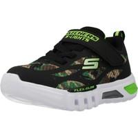 Schoenen Jongens Lage sneakers Skechers FLEX-GLOW-RONDLER Zwart